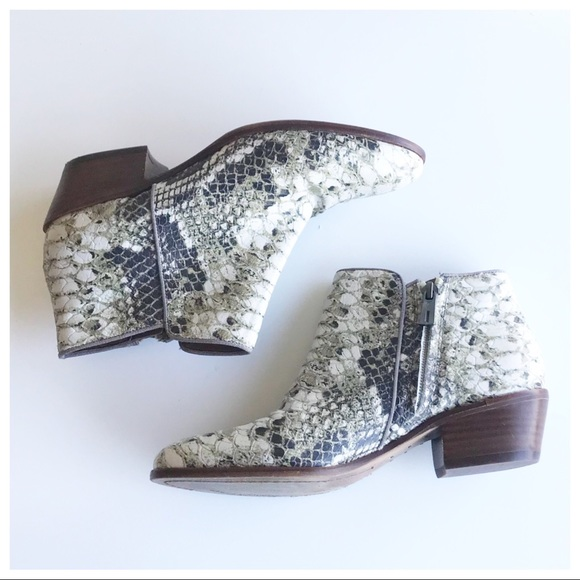 1807e7ff2d1ee Sam Edelman Shoes - 🎈LOWEST -Sam Edelman Petty Roccia Python Booties